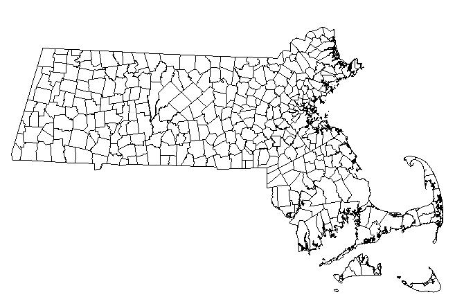 City and Town Map of Massachusetts